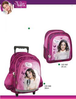 mochila cor de rosa da Violetta