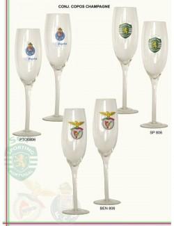 Copos de champanhe dos clubes de futebol