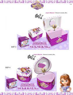 Caixas de joias Princesa Sofia Disney
