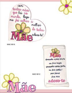 Presente DIa da Mãe - coração manuscrito